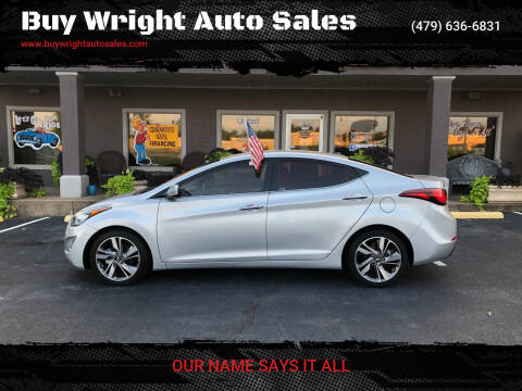 2014 Hyundai Elantra for sale at Buy Wright Auto Sales in Rogers AR