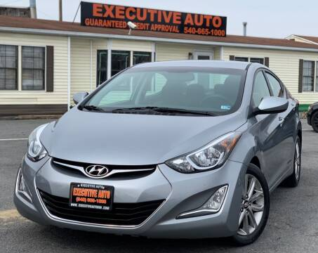 2015 Hyundai Elantra for sale at Executive Auto in Winchester VA