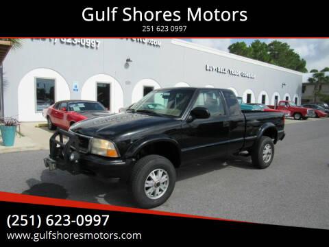 2002 GMC Sonoma for sale at Gulf Shores Motors in Gulf Shores AL