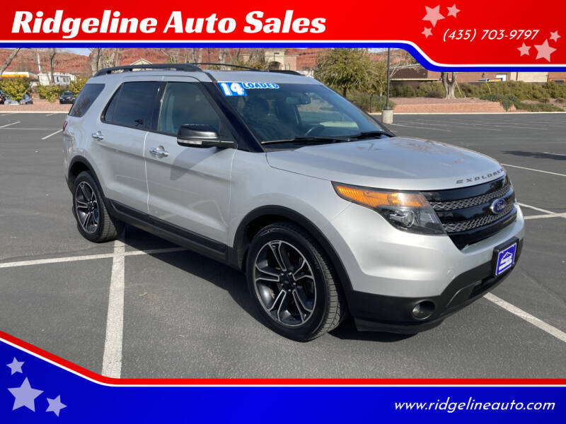 2014 Ford Explorer for sale at Ridgeline Auto Sales in Saint George UT