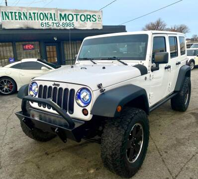 2012 Jeep Wrangler Unlimited for sale at International Motors Inc. in Nashville TN