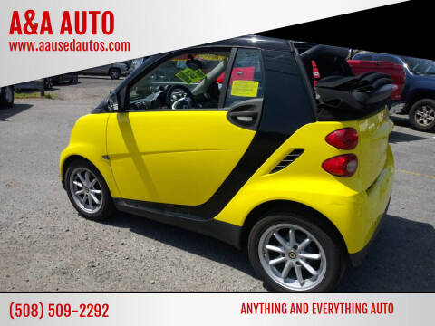 2008 Smart fortwo for sale at A&A AUTO in Fairhaven MA