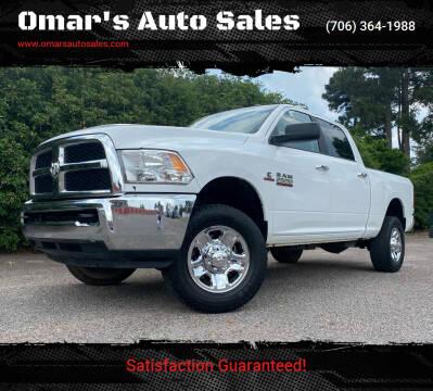 2017 RAM Ram Pickup 2500 for sale at Omar's Auto Sales in Martinez GA
