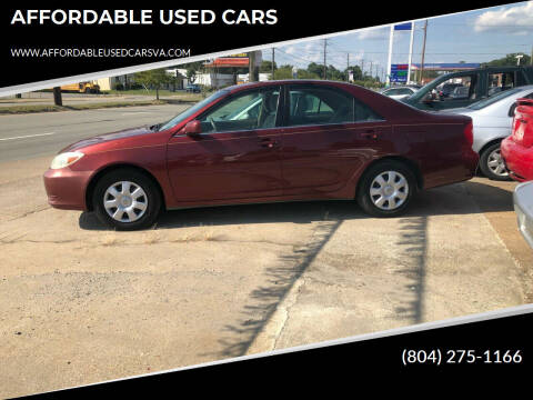 2004 Toyota Camry for sale at AFFORDABLE USED CARS in Richmond VA