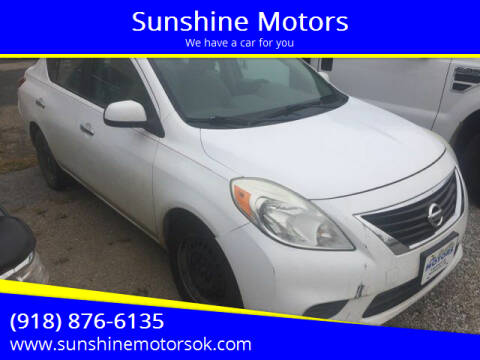 2012 Nissan Versa for sale at Sunshine Motors in Bartlesville OK
