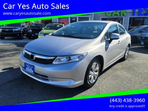 2012 Honda Civic for sale at Car Yes Auto Sales in Baltimore MD