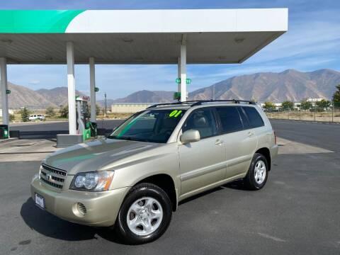 2001 Toyota Highlander for sale at Evolution Auto Sales LLC in Springville UT