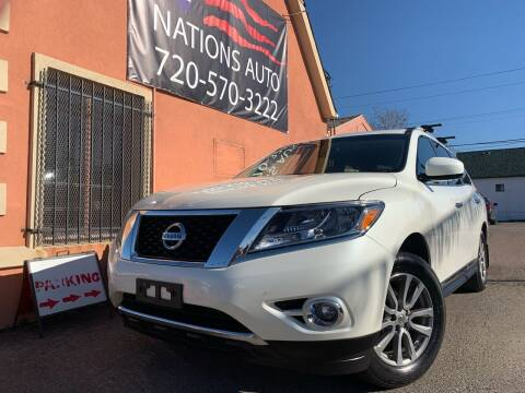 2015 Nissan Pathfinder for sale at Nations Auto Inc. II in Denver CO