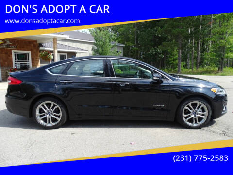 2019 Ford Fusion Hybrid for sale at DON'S ADOPT A CAR in Cadillac MI