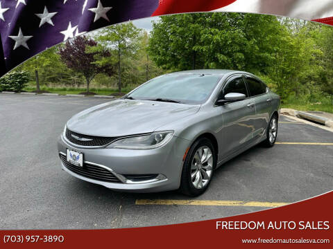 2015 Chrysler 200 for sale at Freedom Auto Sales in Chantilly VA