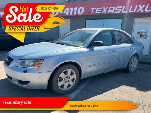 2007 Hyundai Sonata for sale at Texas Luxury Auto in Cedar Hill TX