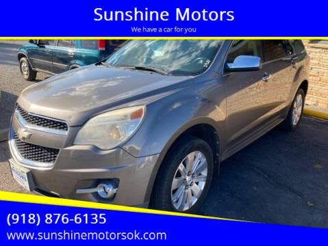 2010 Chevrolet Equinox for sale at Sunshine Motors in Bartlesville OK