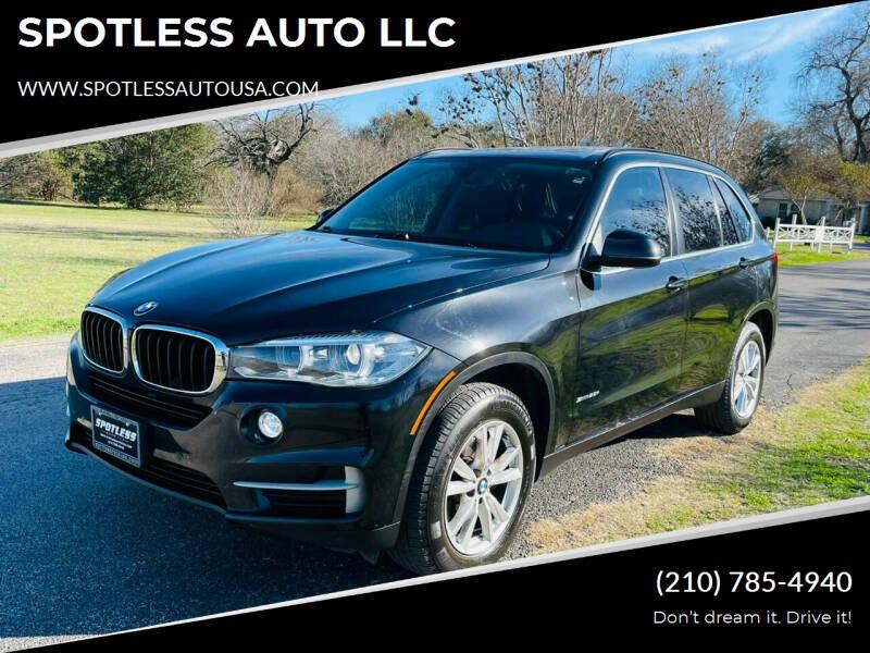 2014 BMW X5 for sale at SPOTLESS AUTO LLC in San Antonio TX