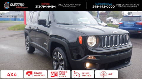2018 Jeep Renegade for sale at Quattro Motors 2 - 1 in Redford MI