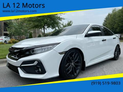 2020 Honda Civic for sale at LA 12 Motors in Durham NC