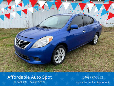 2014 Nissan Versa for sale at Affordable Auto Spot in Houston TX