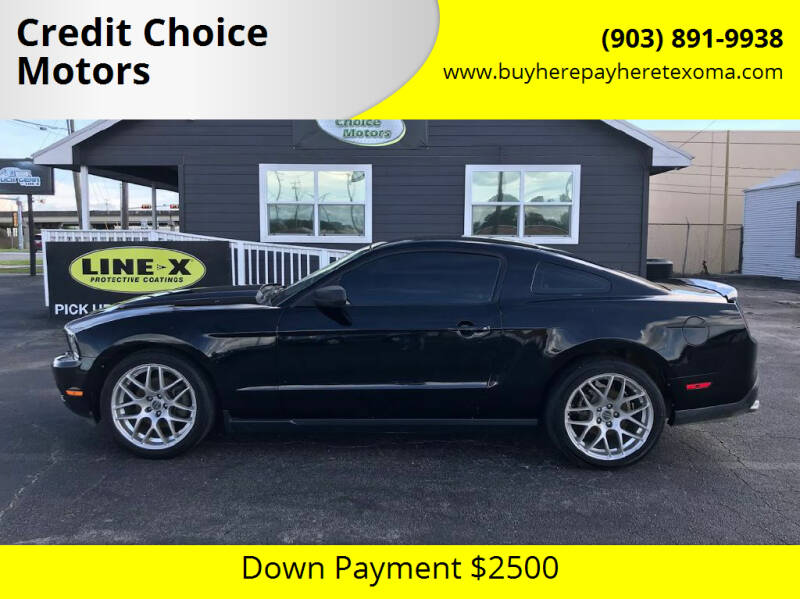 2012 Ford Mustang for sale at Credit Choice Motors in Sherman TX