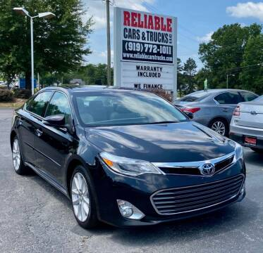 2015 Toyota Avalon for sale at Reliable Cars & Trucks LLC in Raleigh NC