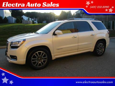 2013 GMC Acadia for sale at Electra Auto Sales in Johnston RI