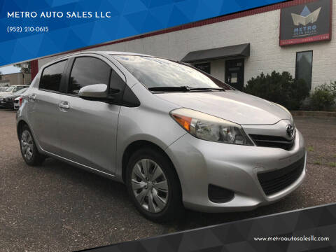 2014 Toyota Yaris for sale at METRO AUTO SALES LLC in Blaine MN