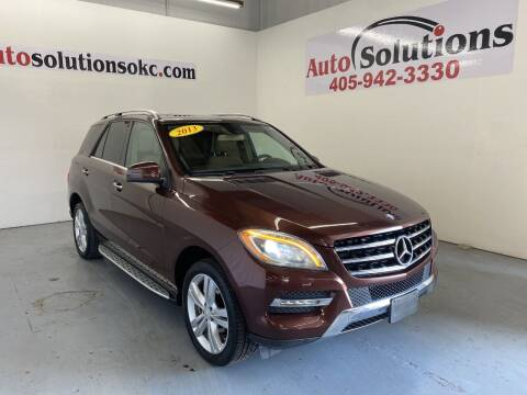 2013 Mercedes-Benz M-Class for sale at Auto Solutions in Warr Acres OK
