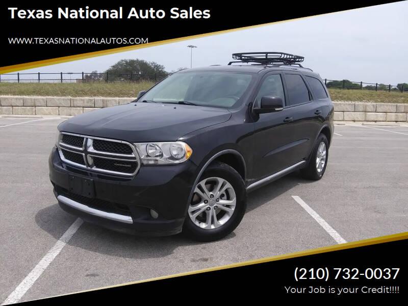2011 Dodge Durango for sale at Texas National Auto Sales in San Antonio TX