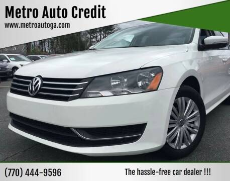 2015 Volkswagen Passat for sale at Used Imports Auto - Metro Auto Credit in Smyrna GA