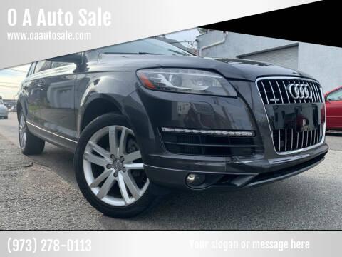 2013 Audi Q7 for sale at O A Auto Sale in Paterson NJ