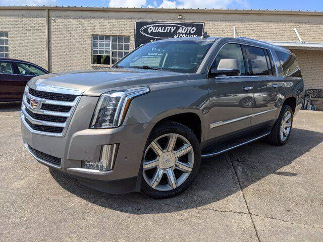 2018 Cadillac Escalade ESV for sale at Quality Auto of Collins in Collins MS