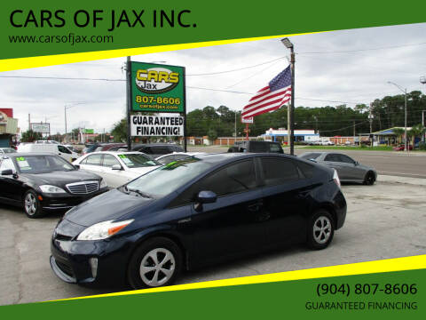 2014 Toyota Prius for sale at CARS OF JAX INC. in Jacksonville FL
