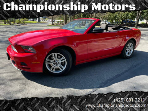 2013 Ford Mustang for sale at Championship Motors in Redmond WA