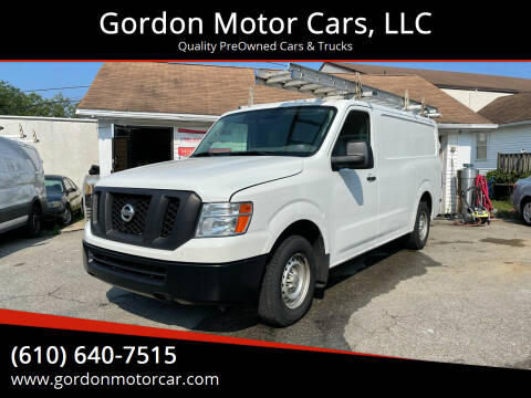 2016 Nissan NV Cargo for sale at Gordon Motor Cars, LLC in Frazer PA