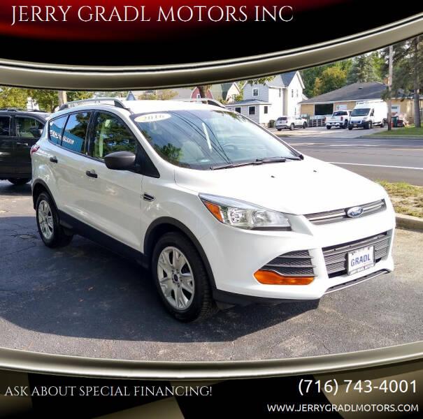 2016 Ford Escape for sale at JERRY GRADL MOTORS INC in North Tonawanda NY