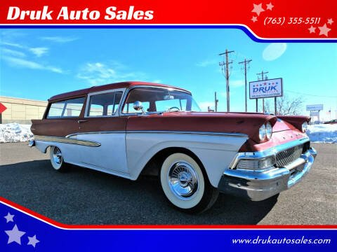 1958 Ford Ranch Wagon for sale at Druk Auto Sales in Ramsey MN