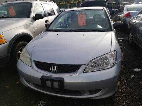 2001 Honda Civic for sale at 2 Way Auto Sales in Spokane Valley WA