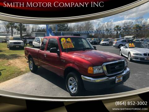2004 Ford Ranger for sale at Smith Motor Company INC in Mc Cormick SC