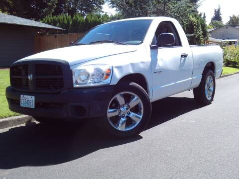 2008 Dodge Ram Pickup 1500 for sale at Redline Auto Sales in Vancouver WA