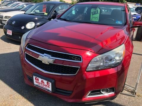 2013 Chevrolet Malibu for sale at M & E Motors in Neptune NJ