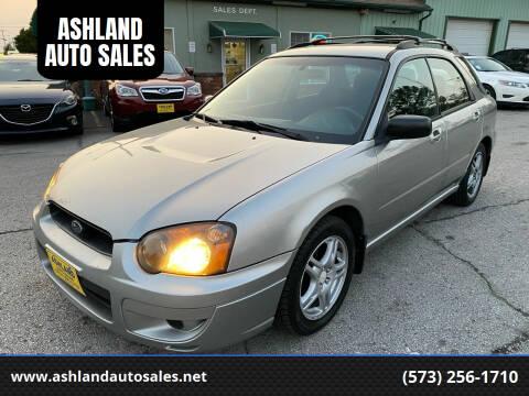 2005 Subaru Impreza for sale at ASHLAND AUTO SALES in Columbia MO