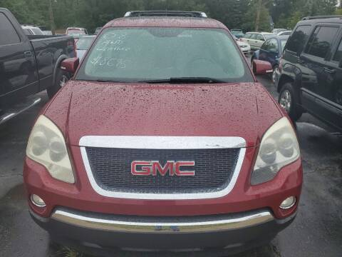 2008 GMC Acadia for sale at All State Auto Sales, INC in Kentwood MI