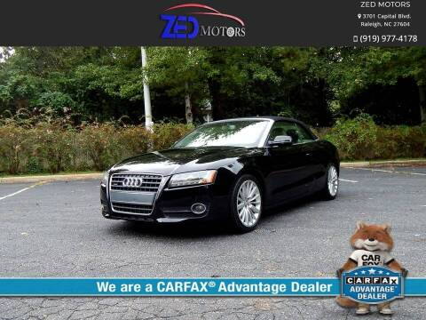 2012 Audi A5 for sale at Zed Motors in Raleigh NC