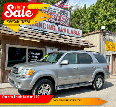 2004 Toyota Sequoia for sale at Oscar's Truck Center, LLC in Houston TX