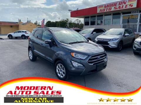 2019 Ford EcoSport for sale at Modern Auto Sales in Hollywood FL