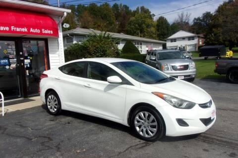2011 Hyundai Elantra for sale at Dave Franek Automotive in Wantage NJ
