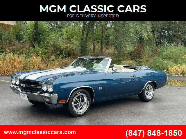 1970 Chevrolet Chevelle for sale at MGM CLASSIC CARS-New Arrivals in Addison IL