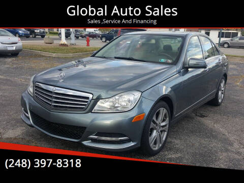 2012 Mercedes-Benz C-Class for sale at Global Auto Sales in Hazel Park MI