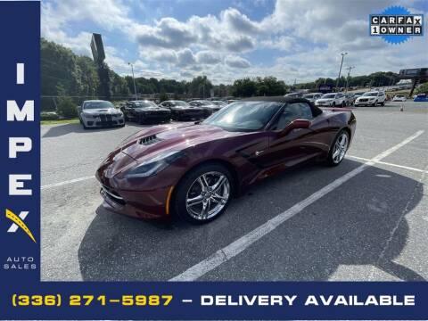 2016 Chevrolet Corvette for sale at Impex Auto Sales in Greensboro NC