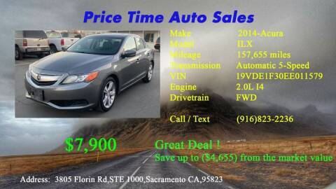 2014 Acura ILX for sale at PRICE TIME AUTO SALES in Sacramento CA