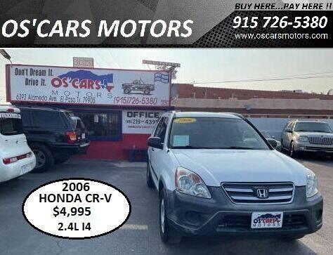 2006 Honda CR-V for sale at Os'Cars Motors in El Paso TX