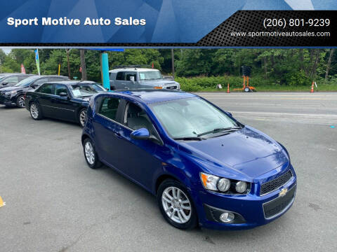 2013 Chevrolet Sonic for sale at Sport Motive Auto Sales in Seattle WA